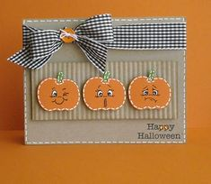 Scrappin' With Kimmy: September 2010. Halloween, Greeting Card, Peachy Keen Stamps