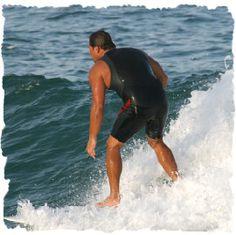 Surfing at Sebastian Inlet State Park, Florida