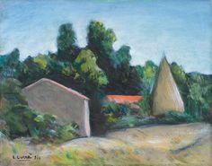 Carlo Carrà - Paesaggio - Olio su tela - cm. 40x50 - Asta Arte ...