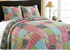 Zebra Patchwork Set modern bedding