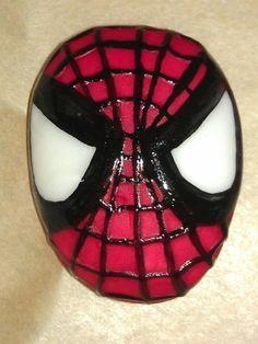 Spider-Man cupcake topper
