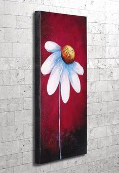 Canvas Painting watercolor and ink number canvases - bird Tole Painting, Painting & Drawing, Daisy Painting, Mini Toile, Wine And Canvas, Art Abstrait, Watercolor And Ink, Painting Inspiration, Diy Art