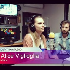 :)  #radio #ospite #aliceviglioglia #smile #actress #music #theatre