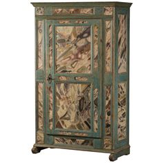 Original painted Baroque cabinet, Denmark 1750-1770 | 1stdibs.com