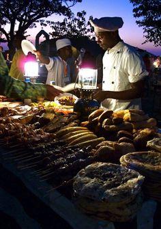 night market, zanzibar, tanzania