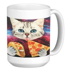 Junk Food Kitty Fast Food Cat 15 ounce Ceramic Coffee Mug Tea Cup by Debbie's Designs >>> Additional details at the pin image, click it : Cat mug