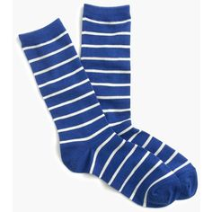 J.Crew Trouser Socks ($19) ❤ liked on Polyvore featuring intimates, hosiery, socks, stripe socks, j crew socks, striped socks and trouser socks