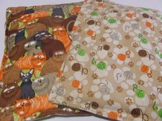Microwave Heating Pad Pillow Cats and Yarn Microwave Heating, Heating Pads, Neck And Shoulder Pain, Sore Muscles, Animal Pillows, Pets, Handmade, Hand Made, Muscle Soreness