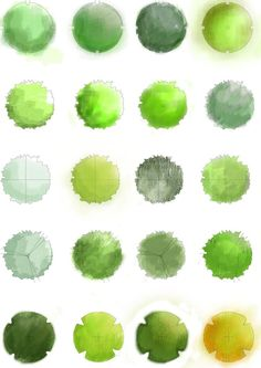 High brushes of hand drawn planting material for landscape plans. created in photoshop cs drawn from the book 'Landscape Grap. landscape plants in plan brush Landscape Sketch, Landscape Design Plans, Landscape Drawings, Urban Landscape, Landscapes, Watercolor Landscape, Watercolor Painting, Watercolors, Landscape Paintings