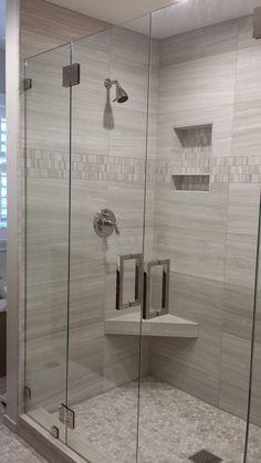 double hinged shower doors