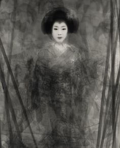 30 Geikos and Maikos, Dancing the Special Kyo Dance in the Spring  Pilling portrait by Ben Kitano