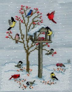 Bilderesultat for free cross stitch patterns birds Cross Stitch Bird, Cross Stitch Animals, Cross Stitch Flowers, Counted Cross Stitch Patterns, Cross Stitch Charts, Cross Stitch Designs, Cross Stitching, Cross Stitch Embroidery, Christmas Embroidery