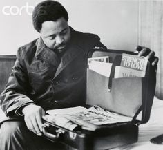 Hosea Williams Searching Through Dr. Martin Luther King's Briefcase