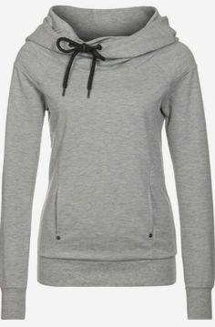 Grey comfy and cozy hoodie fashion
