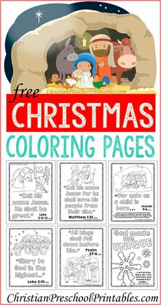 Christmas Bible Coloring Pages - A Christ-Centered Christmas Preschool Christmas, Christmas Activities, Kids Christmas, Christmas Crafts, Christmas Nativity, Christmas 2015, Christmas Traditions, Merry Christmas, Christmas Bible Verses