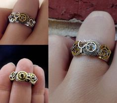 'Steam mystique' steampunk ring #steampunk #jewelry #fashion I need this ring !