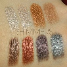 Makeup Revolution Iconic Pro 1 palette Shimmers Swatches