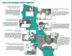 "Inside of the ""Who is the California Literacy Campaign"" Brochure printed after 1987 for program advocacy. The California Literacy Campaign was made up of ordinary Californians who together changed the state for the better."