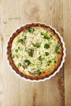 Recept: Quiche met geitenkaas en champignons