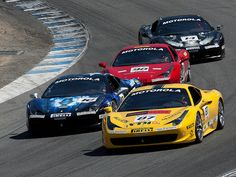 Ferrari 458 Challenge race at Laguna Seca last weekend by JamMarz, via Flickr