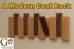 How to Make a Modern Coat Rack Woodworking For Mere Mortals, Woodworking Shop Layout, Woodworking Projects That Sell, Woodworking As A Hobby, Woodworking Plans, Woodworking Videos, Woodworking Chisels, Woodworking Equipment, Woodworking Basics