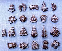 , Perníky na vánoce, velikonoce, srdíčka z lásky, na svadbu... Royal Icing Cookies, Sugar Cookies, Christmas Baking, Christmas Cookies, Gingerbread House Designs, Gingerbread Houses, Rice Krispies, Biscotti, Cookie Decorating