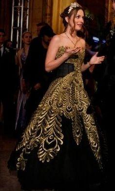 golden peacock dress