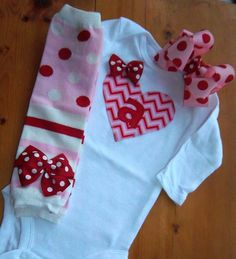 Baby Girl Valentine's Day Outfit Red Pink by LilBeanBabyBoutique, $43.99