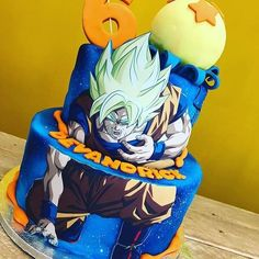 Amazing Dragonball Z cake by - Edible Image Software Dragon Birthday, Ball Birthday, Baby Boy 1st Birthday, Boy Birthday Parties, 14th Birthday, Dragon Z, Dragon Ball Gt, Tarta Dragon Ball, Dragonball Z Cake