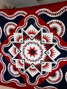 Glacier Star, Quiltworx.com, Made by Cheryl Martel.
