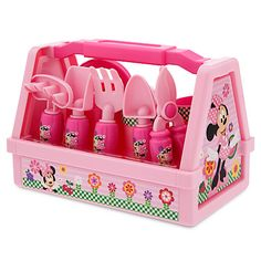 NEW New Disney Minnie Mouse 9 Piece Gardening Set Pink Plastic -- Awesome products selected by Anna Churchill Little Girl Toys, Toys For Girls, Baby Alive Dolls, Baby Dolls, Toddler Toys, Kids Toys, 2nd Birthday, Birthday Gifts, Minnie Mouse Toys