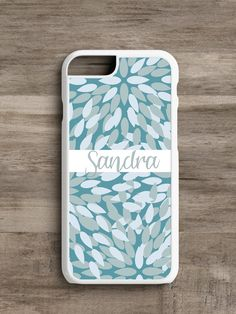 Personalized Blue Leaf- Cell Phone Case