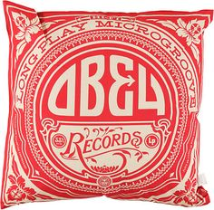 Obey Gold Label Red & White Throw Pillow at Zumiez : PDP