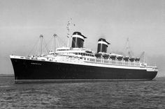 """United States Lines - S.S. America - The """"Grand Forerunner"""" to the SS United States!"""