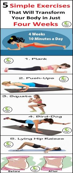5 Simple Exercises That Will Transform Your Body in Just Four Weeks fat loss diet fitness challenges Healthy Lifestyle Motivation, Healthy Lifestyle Tips, Easy Workouts, At Home Workouts, Exercise Workouts, Fitness Workouts, Natural Health Tips, Fat Loss Diet, Going To The Gym