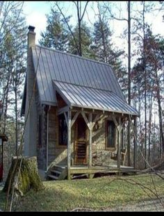 Old log cabin - would make a nice potting shed