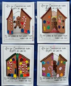 Gingerbread Baby Activities... Would be cute to glue gingerbread boys and girls inside with target words for initial j