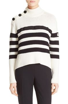 kate spade new york stripe mock neck sweater available at #Nordstrom
