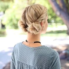 Fast and Easy Double Bun Twist. Probably the easiest hair tutorial I've ever done. I love this style so much! If you have really long or super thick hair than I recommend to put a ponytail at the base of the twist before you finish twisting it all the way down. The full, more in depth tutorial is linked in my bio.