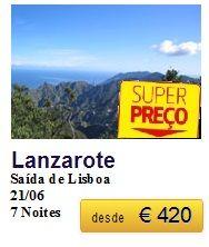 Lanzarote - Ultimos Lugares €420