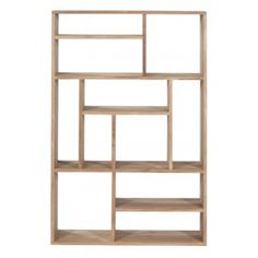 TEAK M-RACK SMALL - Designer Shelving from Ethnicraft ✓ all information ✓ high-resolution images ✓ CADs ✓ catalogues ✓ contact information ✓. Small Bookcase, Bookcase Shelves, Storage Shelves, Bookcases, Wood Furniture, Furniture Design, Etagere Design, Book Racks, Wood Book
