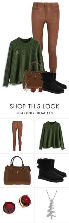 """""""Christmas Tree // Day 7"""" by allasandra ❤ liked on Polyvore featuring M.i.h Jeans, Chicwish, UGG Australia, Lauren Ralph Lauren, Jewel Exclusive and Charter Club"""
