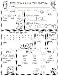 The Polka Dot Patch has these great Kindergarten Assessments  that can be used at the beginning, middle, and end of the year to see and do...