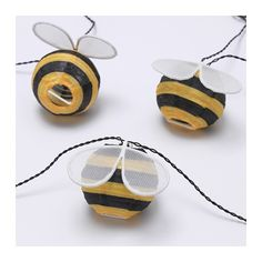 SOLVINDEN LED lighting chain with 12 lights - battery-operated, outdoor bumblebee - IKEA Light Chain, Ikea Family, Luminous Flux, Led String Lights, Led Lampe, Incandescent Bulbs, Battery Operated, Ceiling Lamp