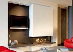 Haarden gas | Van Tiel Haarden Kitchen Cabinets, Furniture, Kitchen, Home, Cabinet, Hoek, Modern Fireplace, Modern, Home Decor