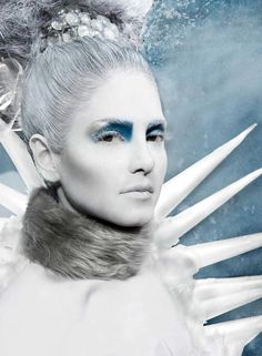 "A ""cool"" version of the Ice Queen :) Makeup & Hair by Blanche Macdonald graduate Azita Abbaspour."
