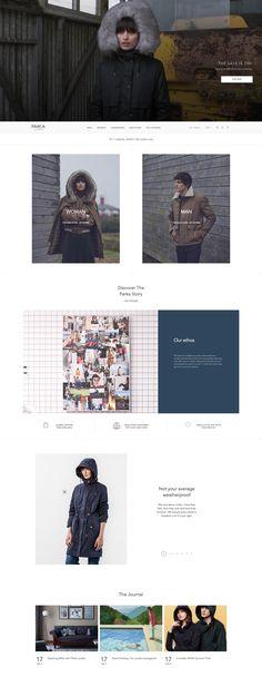 Interesting homepage with navigation beneathe the hero image #ecommerce #webdesign #inspiration