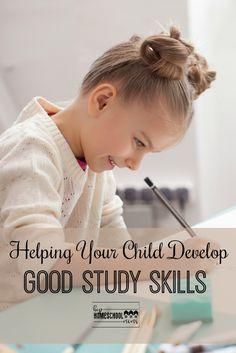 Helping Your Children Develop Good Study Skills via @hiphmschoolmoms