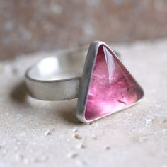 Pink Tourmaline Ring Cotton Candy Pink Tourmaline by TheSlyFox, $110.00