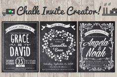 Chalk Invite Creator Bundle by Lucion Creative on Creative Market